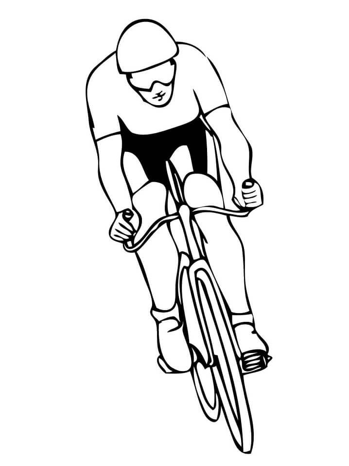 Раскраска Велоспорт