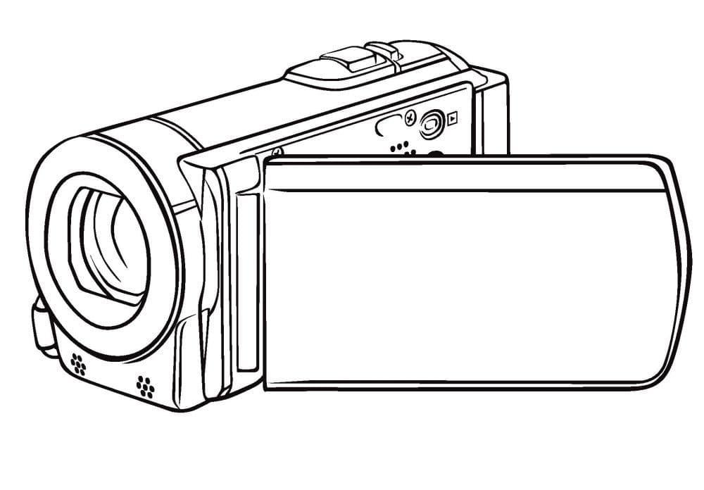 Раскраска Видеокамера