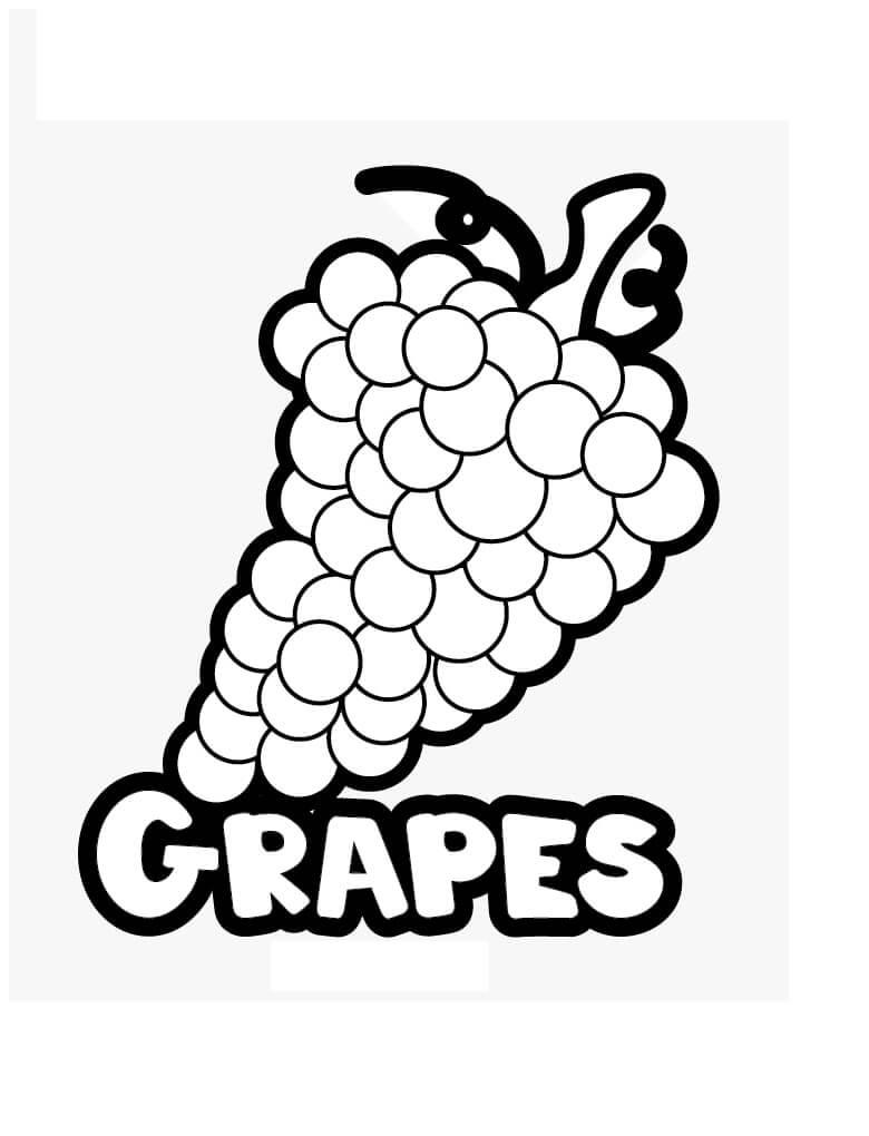 Раскраска Раскраски Виноград