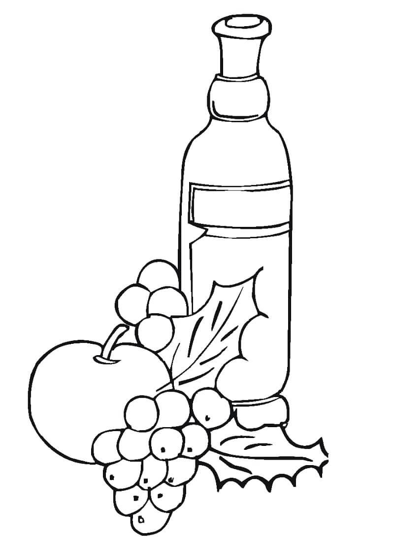 Раскраска виноградный сок