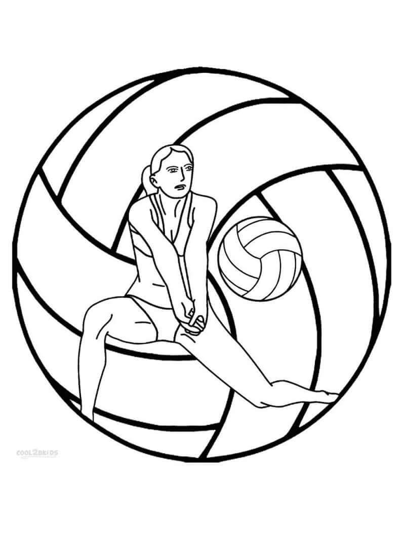 Раскраска Раскраски Волейбол