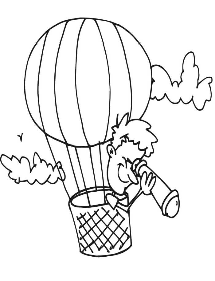 Раскраска воздушный шар 1