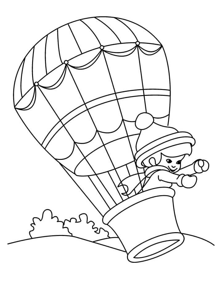 Раскраска воздушный шар 2