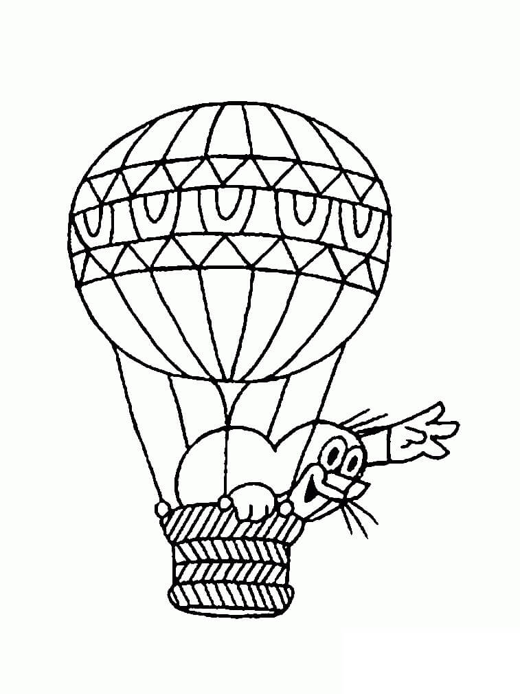 Раскраска воздушный шар 3