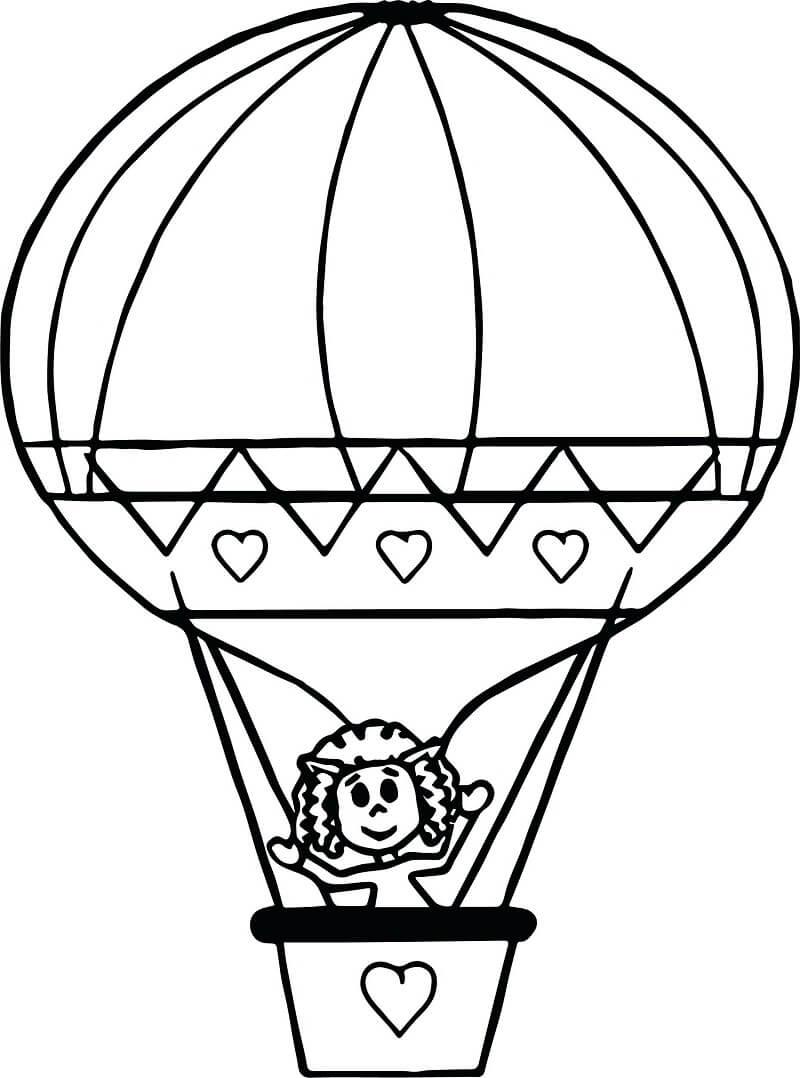Раскраска воздушный шар 4