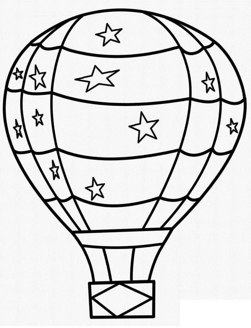Раскраска воздушный шар 6