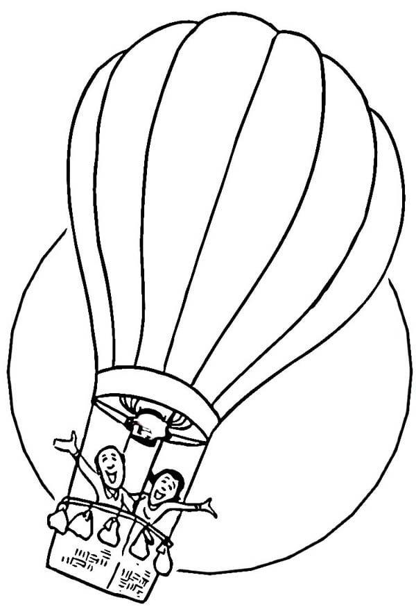 Раскраска воздушный шар