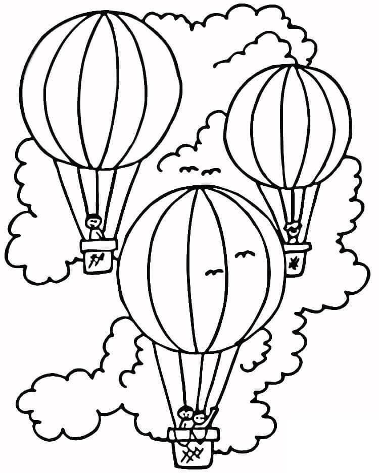 Раскраска Раскраски воздушный шар