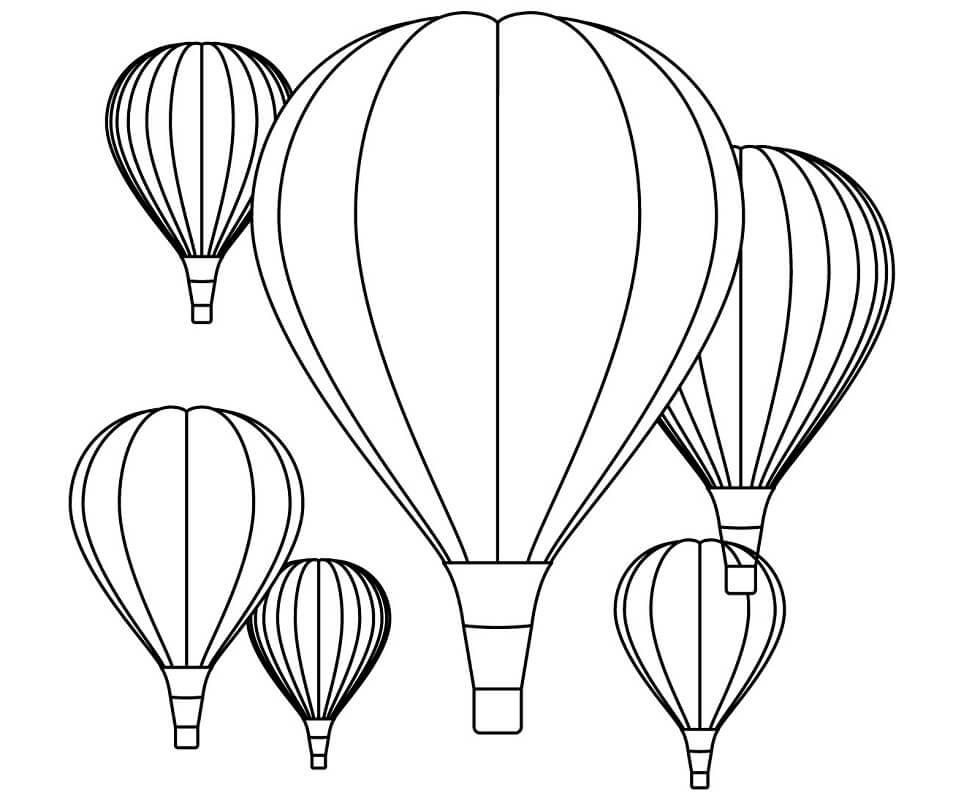Раскраска воздушные шары 2