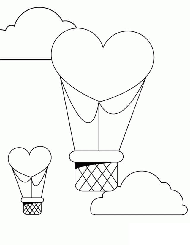Раскраска воздушные шары 3