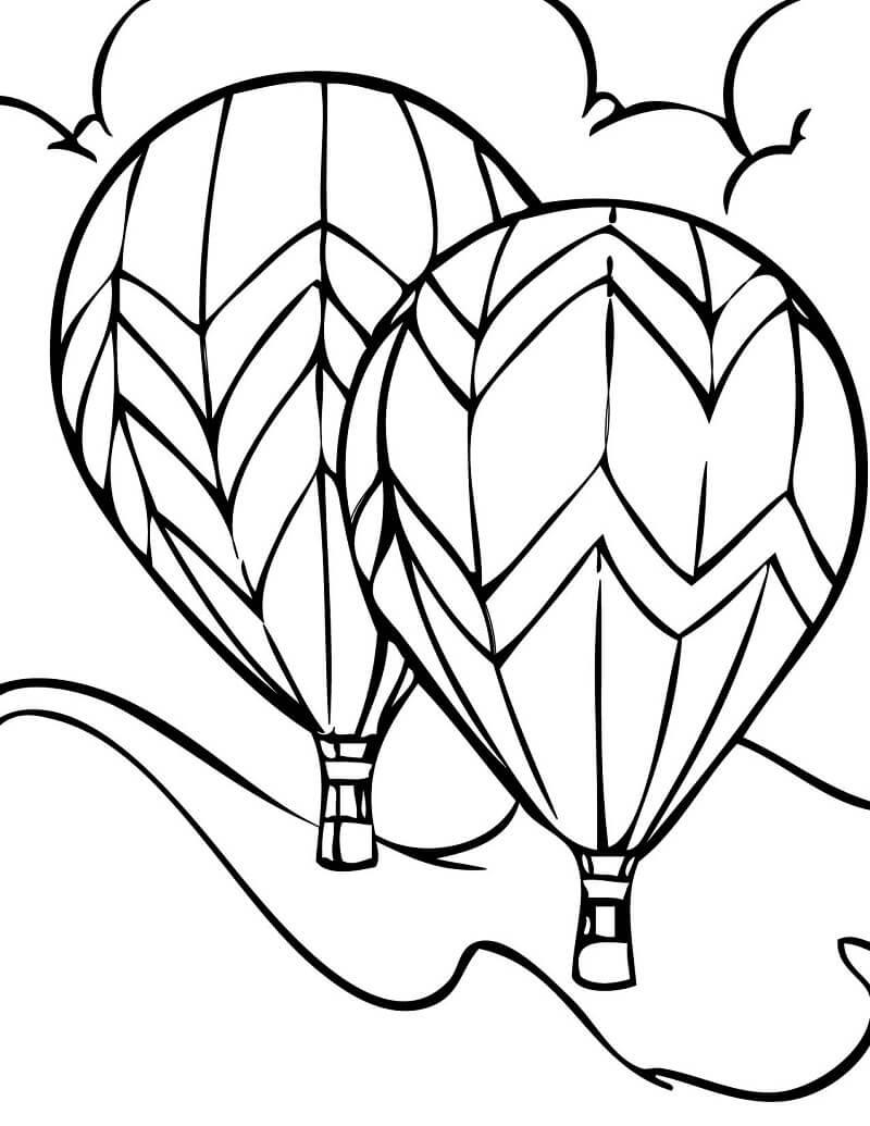 Раскраска воздушные шары