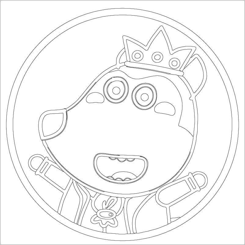 Раскраска Wolfoo 1
