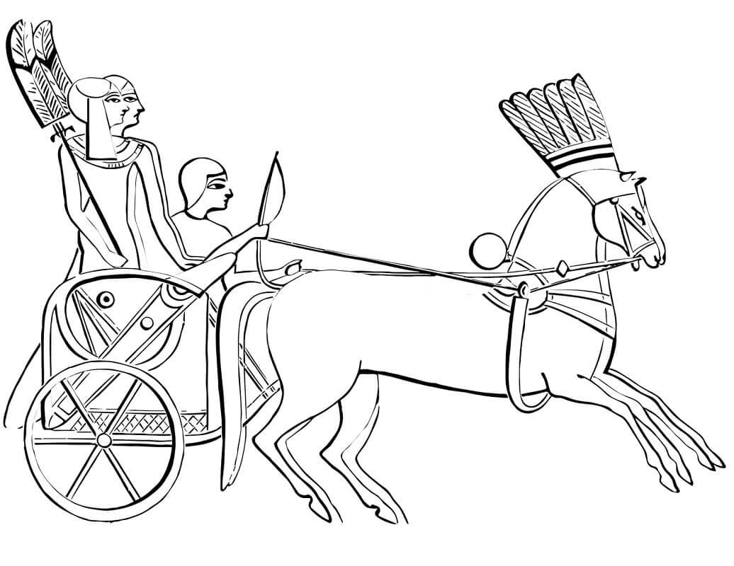 Раскраска Египетская колесница 1