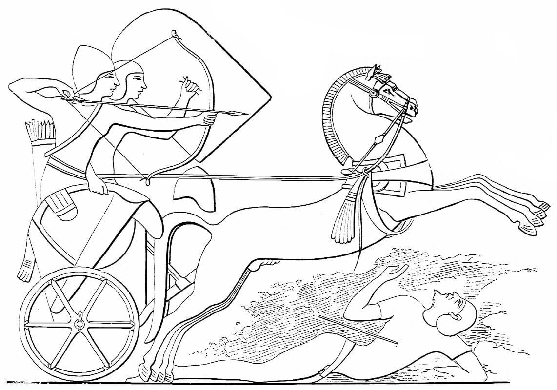 Раскраска Египетская колесница 2
