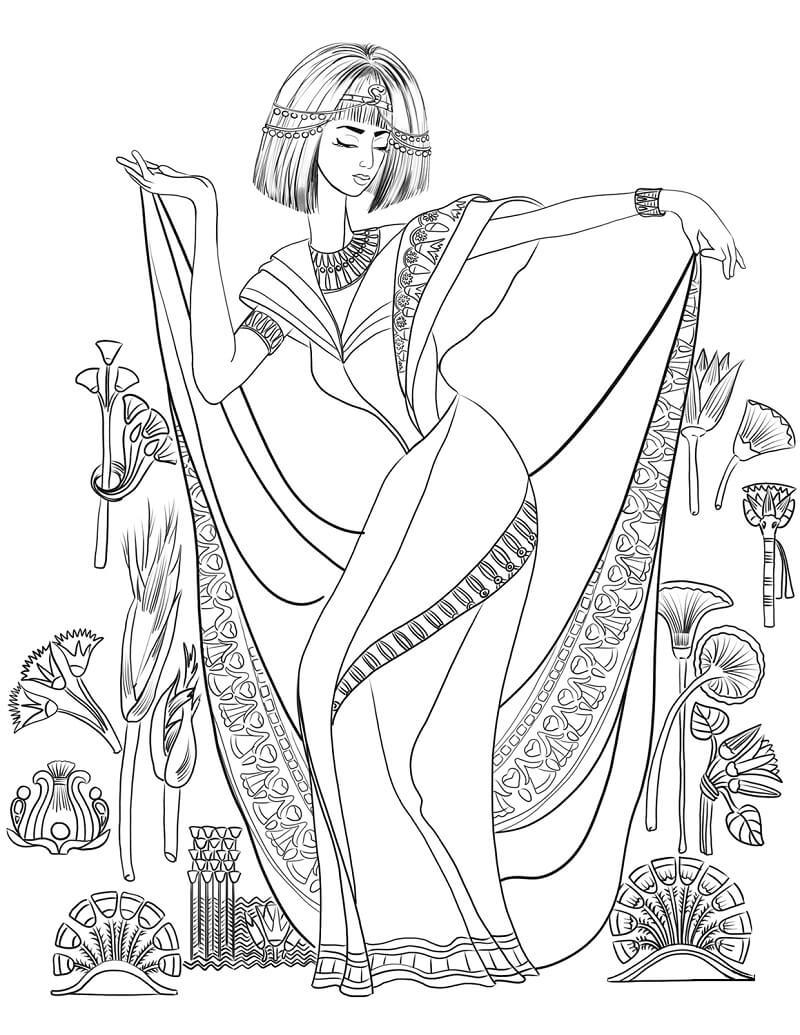 Раскраска Египетская женщина