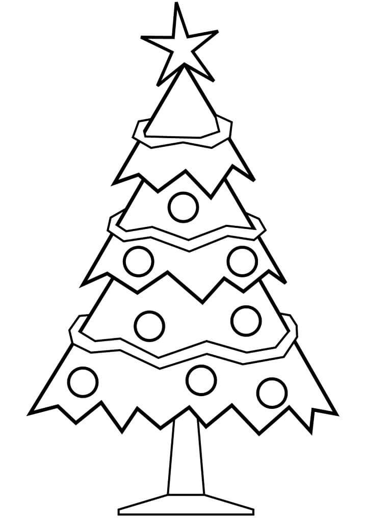 Раскраска елка и украшения 1