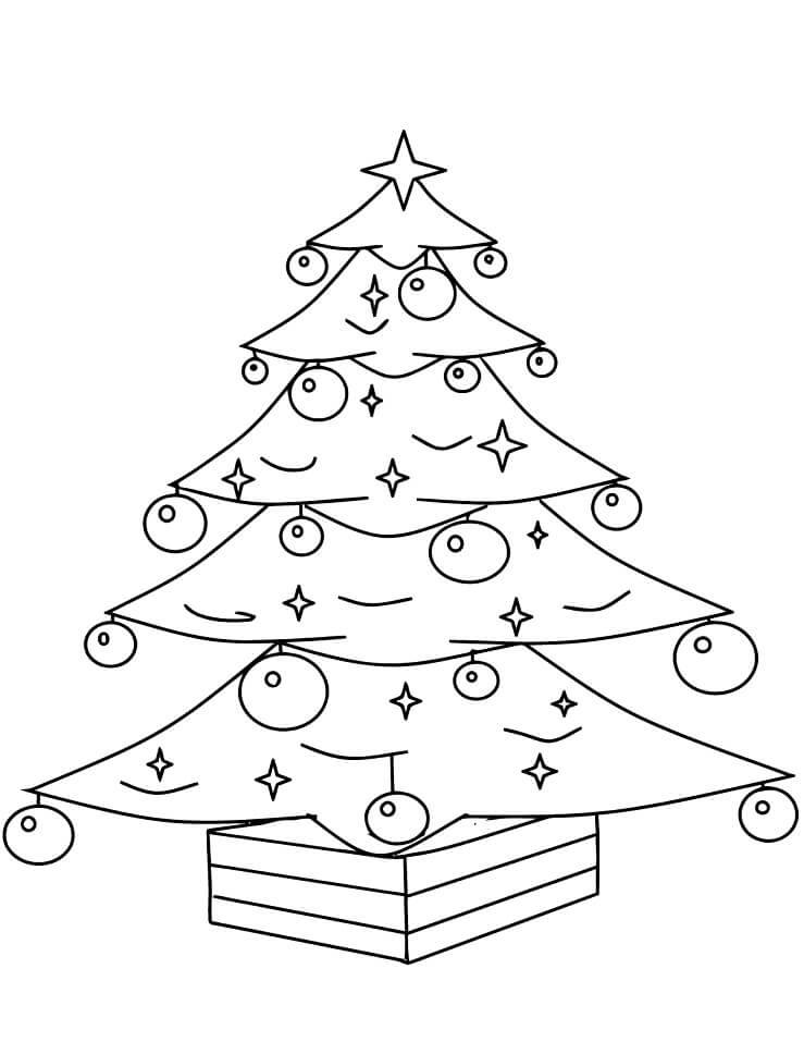Раскраска Раскраски новогодняя елка