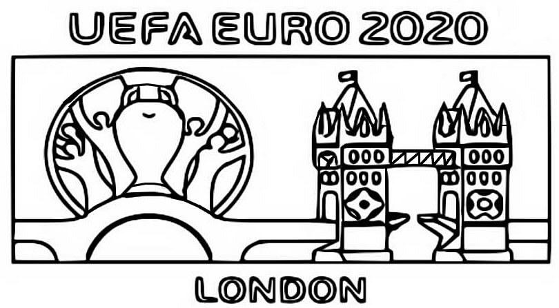 Раскраска Раскраски Чемпионат Европы по футболу 2021