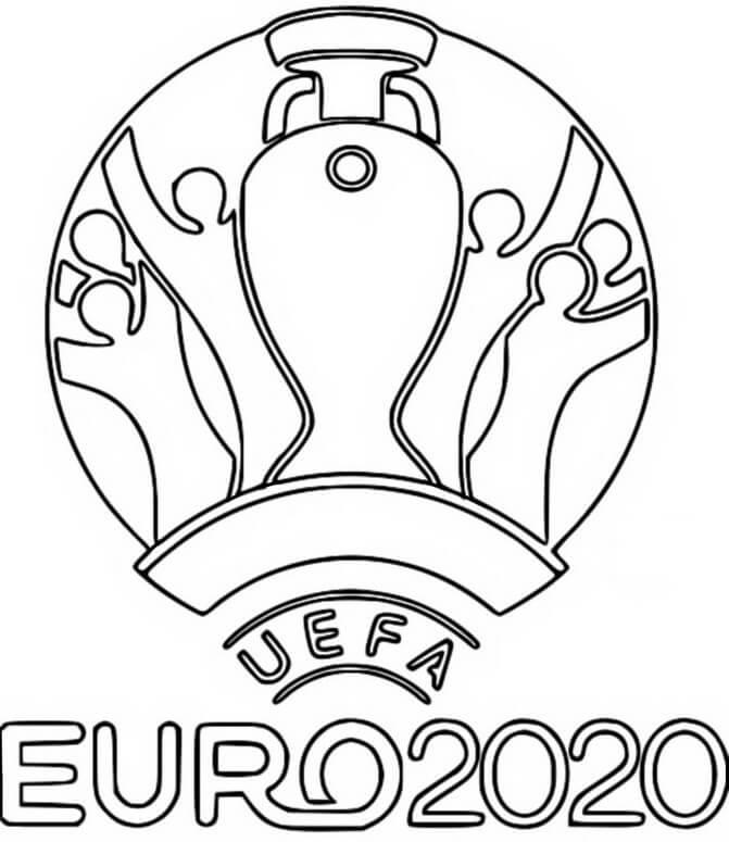 Раскраска Евро 2020 2021 Логотип
