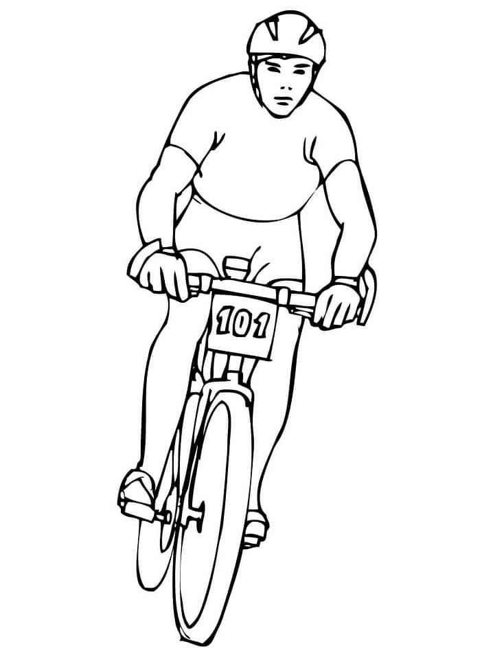 Раскраска Раскраски Велоспорт