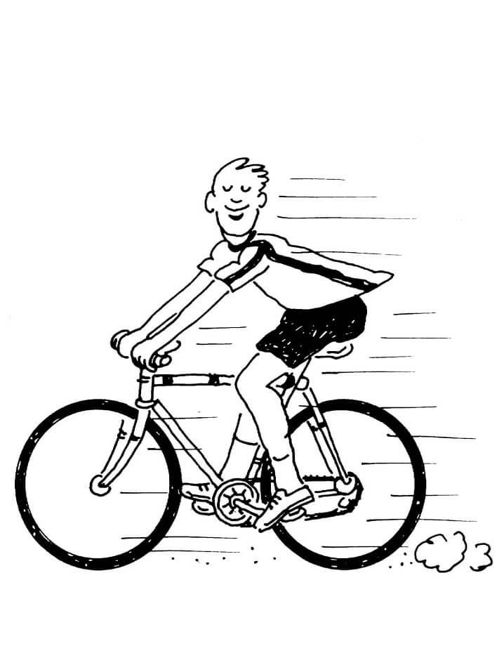 Раскраска Езда на велосипеде 1