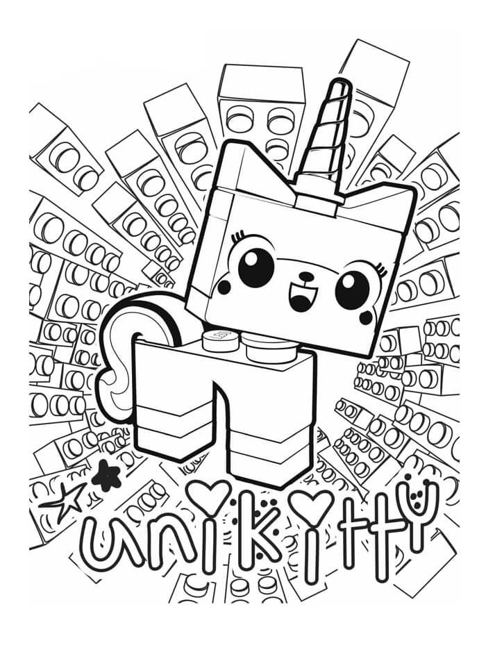 Раскраска Юникитти 9