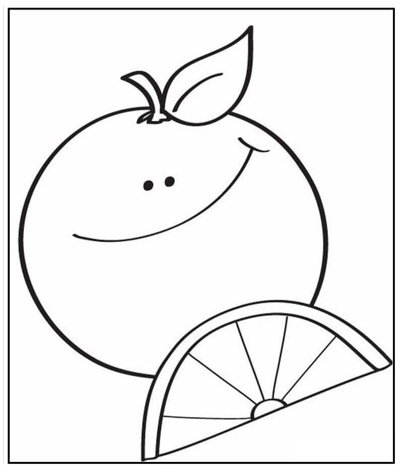 Раскраска мультфильм апельсин 2