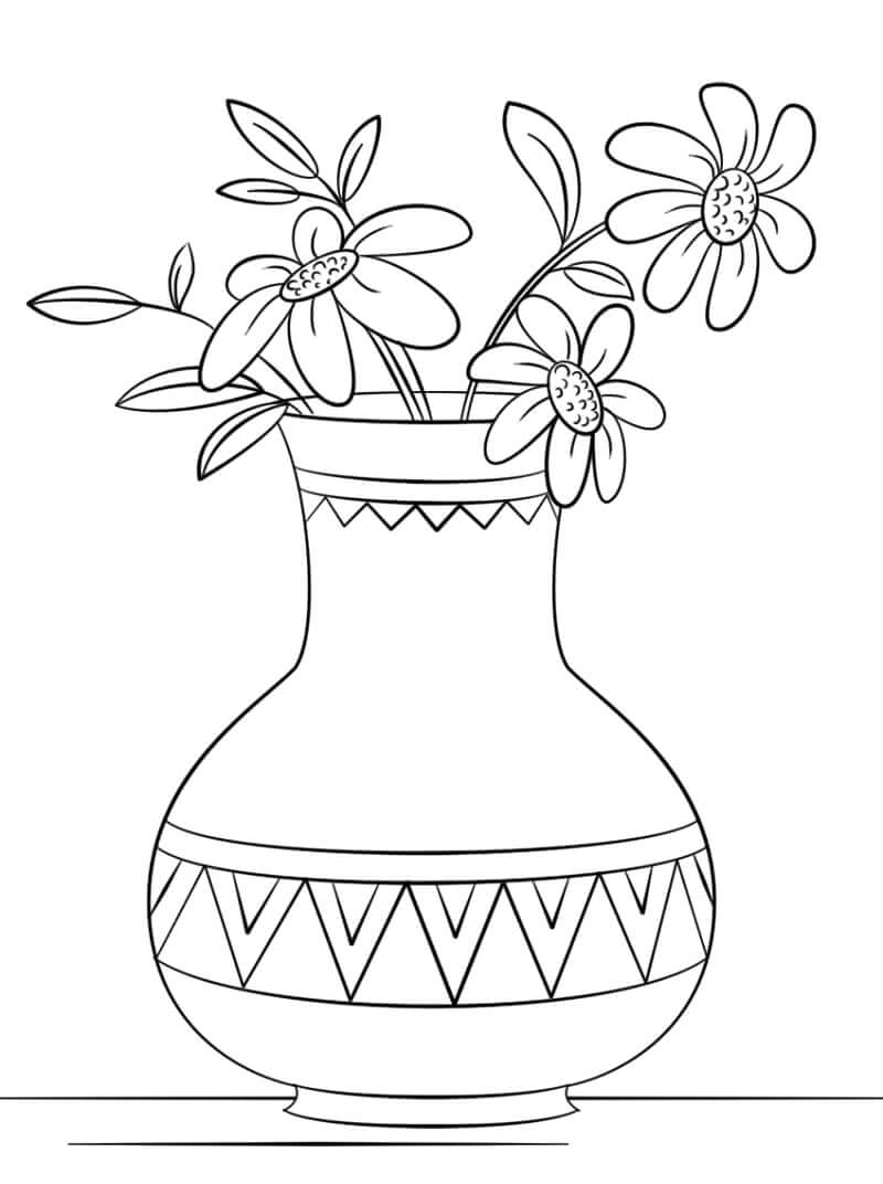 Раскраска Раскраски ромашки