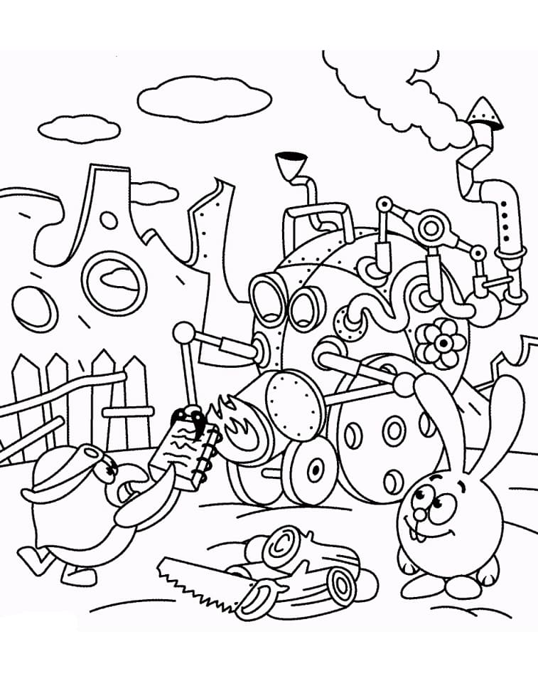 Раскраска Смеша́рики 28