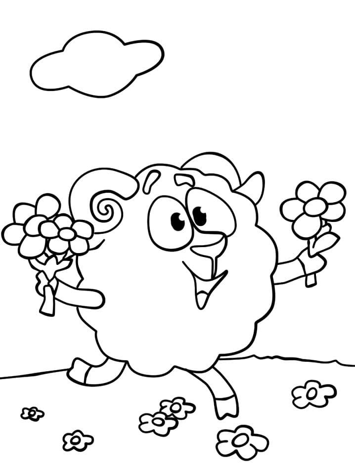Раскраска Смеша́рики 32