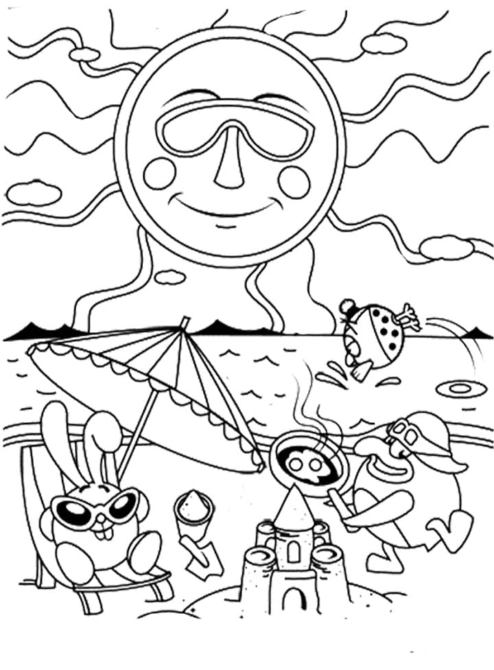 Раскраска Смеша́рики 42