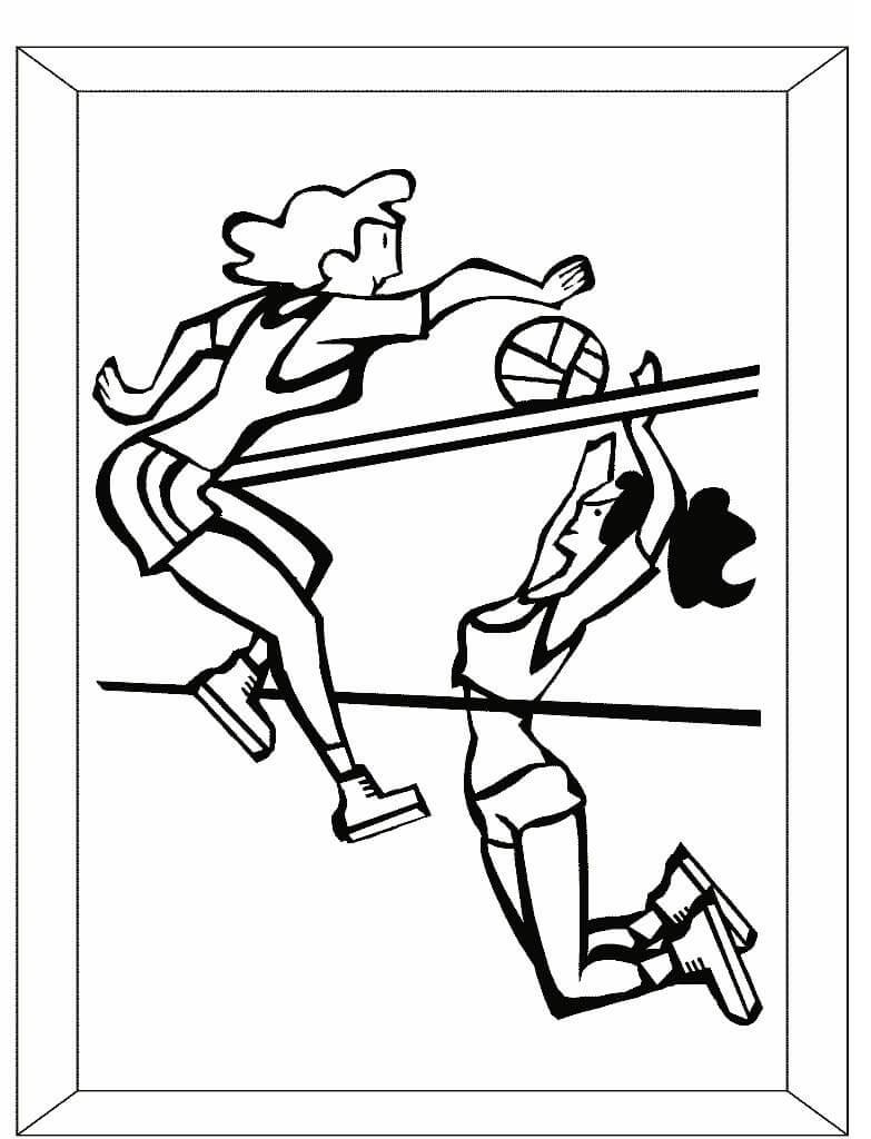 Раскраска волейболисты 2