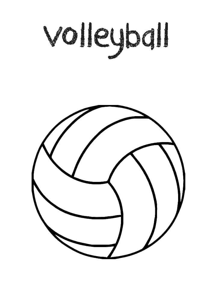 Раскраска волейбольный мяч