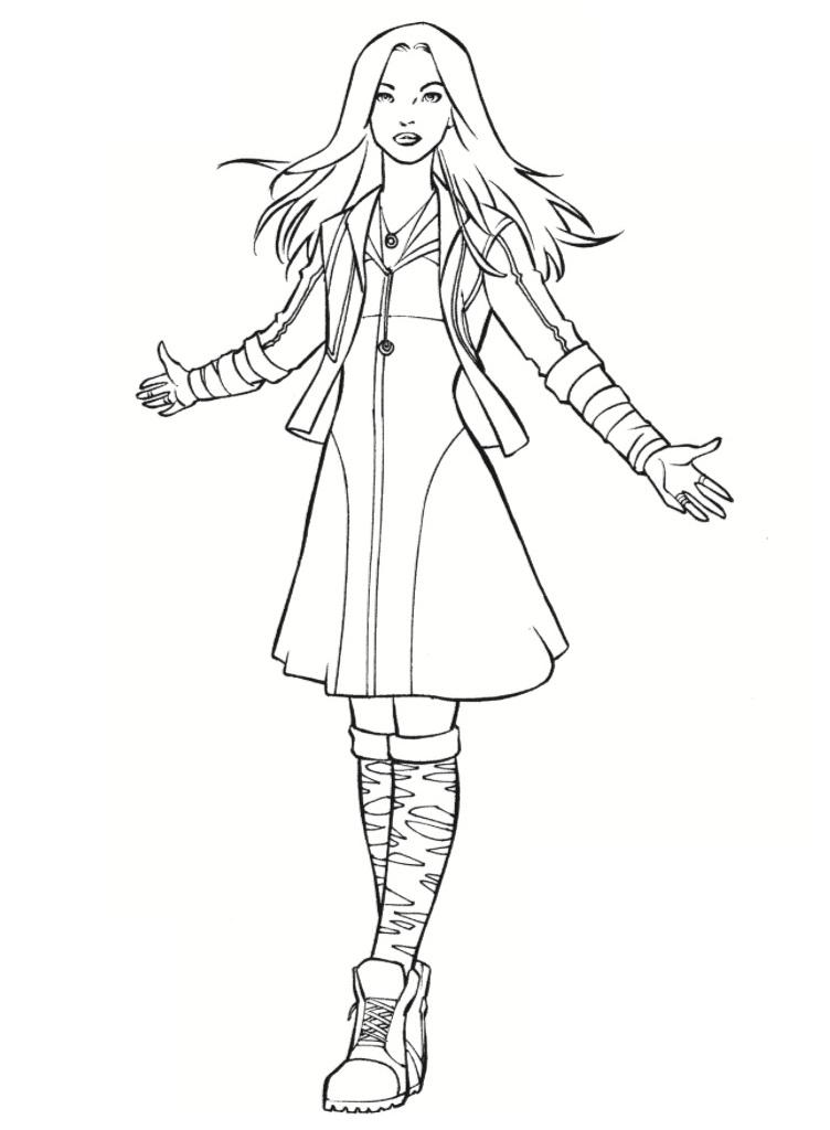 Раскраска Алая Ведьма 2