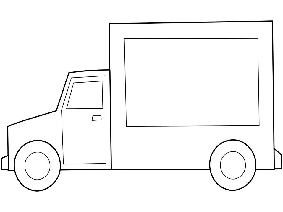 Раскраска Простой грузовик
