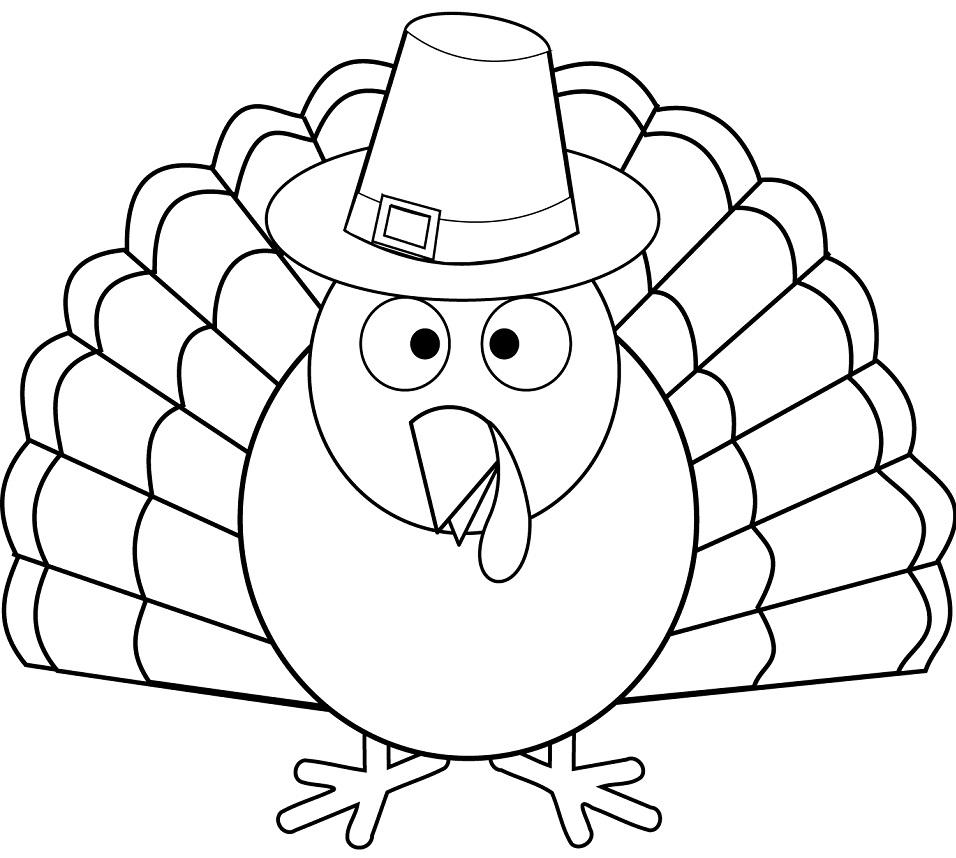 Раскраска Символ Дня Благодарения