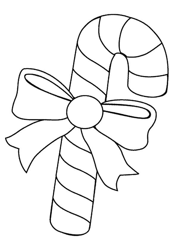 Раскраска Карамельная трость