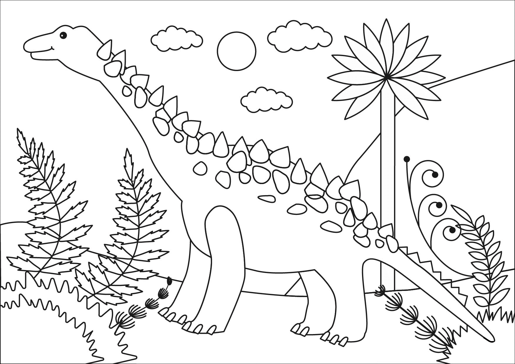 Раскраска Титанозавры