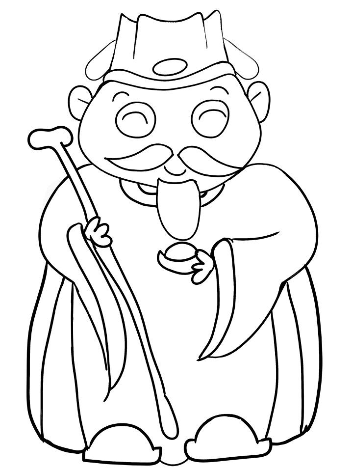 Раскраска Китайский мудрец