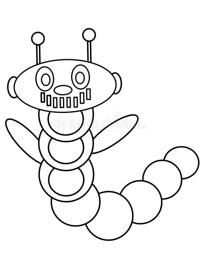 Раскраска машинный червь