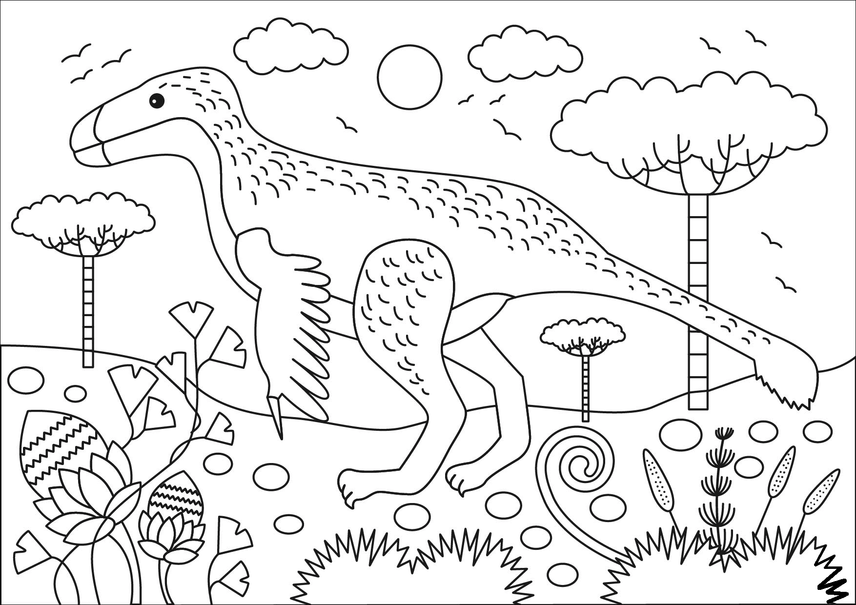 Раскраска Раскраски Динозавры