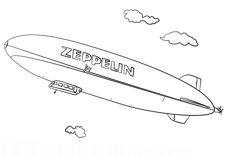Раскраска дирижабль